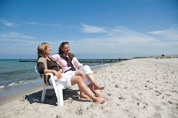 In Graal-Müritz findet man 6 km feinsten Sandstrand, sauberes Wasser und viel Platz zum Erholen und Entspannen. TuK GmbH, Manfred Wigger