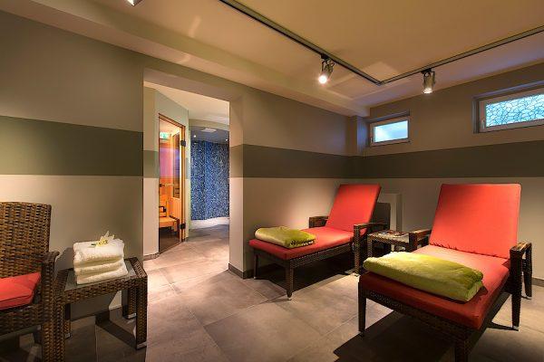 Unsere Sauna im Hotel Susewind in Markgrafenheide.