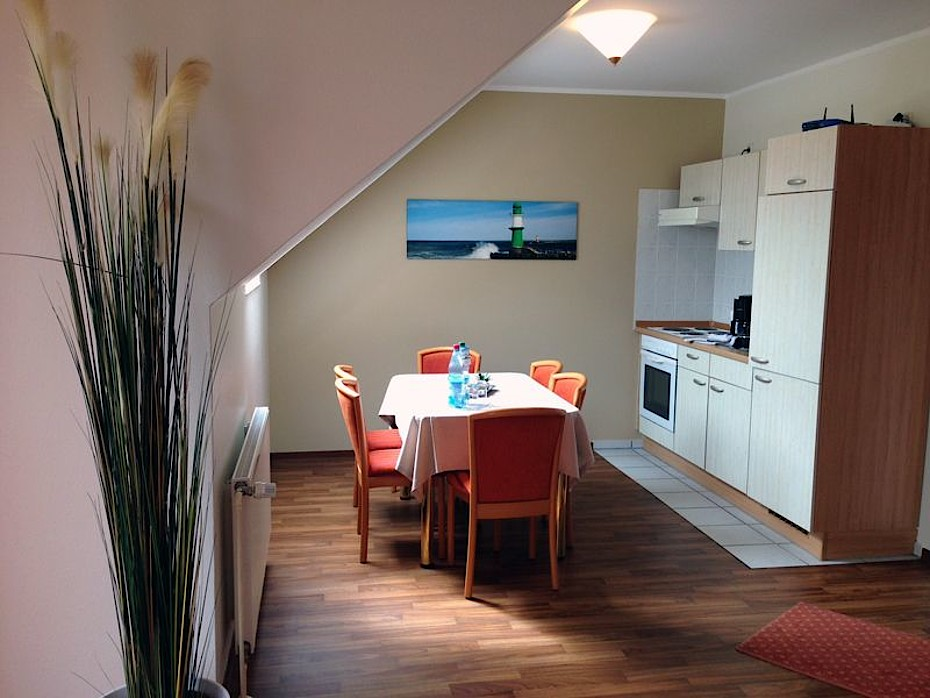 Blick in unsere 3-Zimmer Fewo in Markgrafenheide