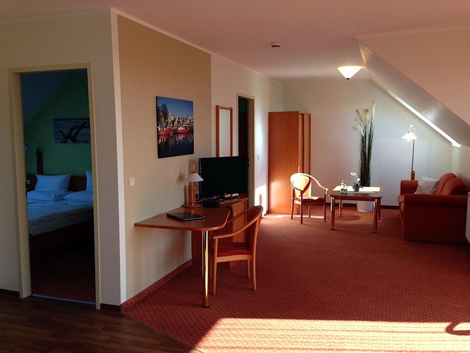 Blick in unsere 3-Zimmer Ferienwohnung in Markgrafenheide