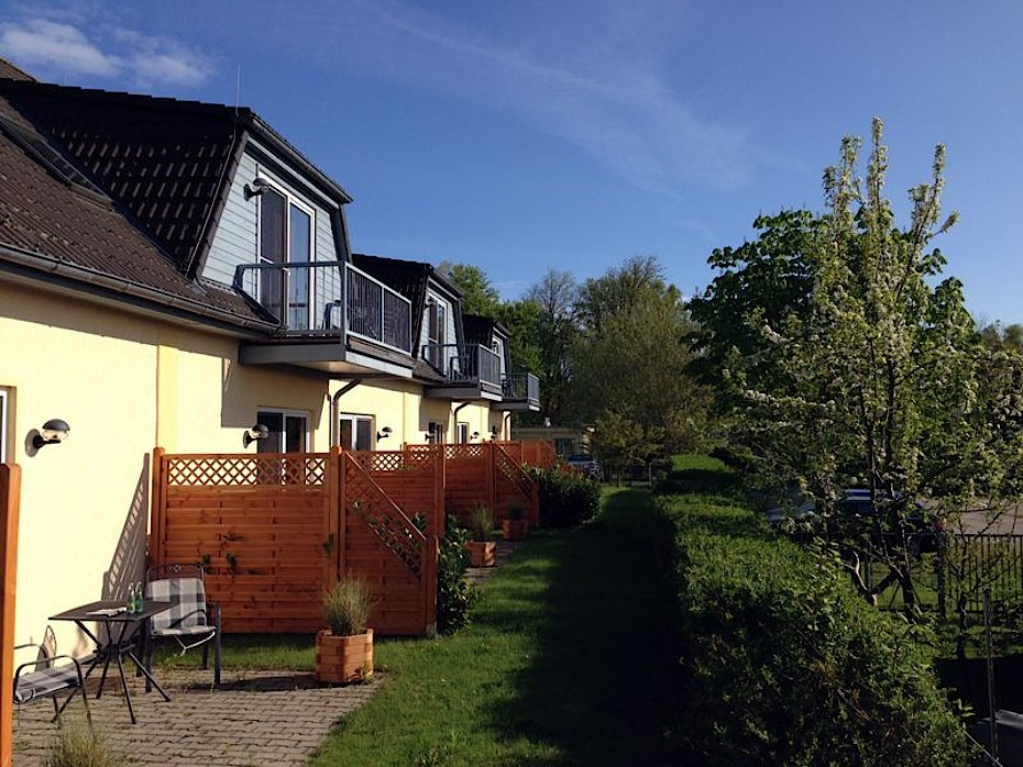 Blick auf unsere Apartments in Warnemünde