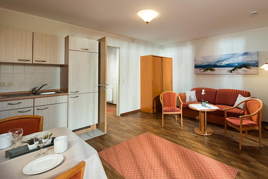 Blick in eines unserer 2-Zimmer-Apartements